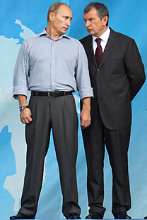 Vladimir Putin and Igor Sechin.   Source: Kommersant