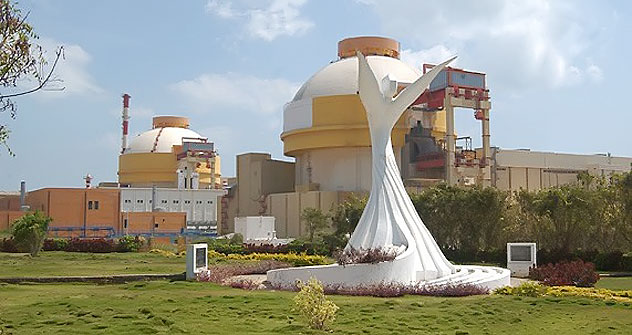 The Kudankulam nuclear power plant.