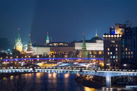 モスクワのクレムリンの夜景 =GeoPhoto撮影