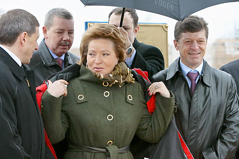 Valentina Matviyenko got a great promotion changing her position from the governor of St. Petersburg to the head of the Federal Council.   Source: RIA Novosti