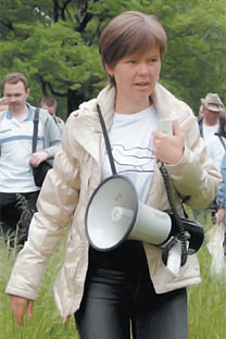 Evgenia Chirikova entered politics to protect a forest near her home from a highway project.   Source: Photoshot / Vostock Photo