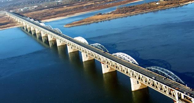 Khabarovsk Bridge across the Amur River.   Source: Itar Tass