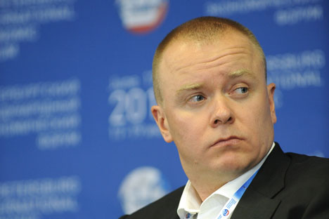 Anton Rakhmanov, managing director for asset management at the Moscow investment bank Troika Dialog. Source: ITAR-TASS