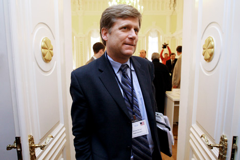 McFaul's candidacy is their sole opportunity to force the administration to agree to demands in terms of unveiling information about negotiations with Russia. Source: RIA Novosti