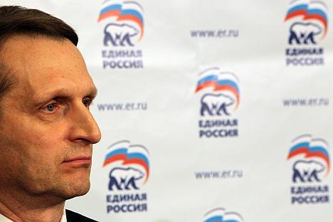 "Sergei Naryshkin: ""We should not see civilized protests as something awful"". Source: Rossiyskaya Gazeta"