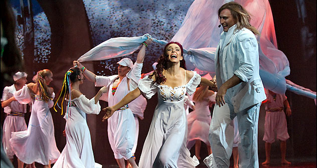 """Russian musical """"Monte Cristo,"""" mounted at Moscow's Operetta Theater this past September launched a record-breaking fourth season. Photo by Dima Chatrov."""