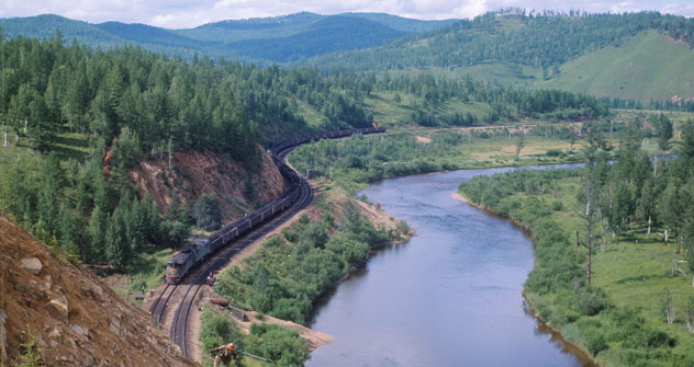 シベリア鉄道=タス通信撮影