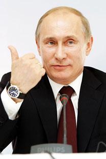 El primer ministro Vladímir Putin declaró que la intervención de Dmitri Medvédev en el Foro Económico de San Petersburgo se basó en una posición compartida por los dos integrantes del tándem. Foto de Ria Novosti