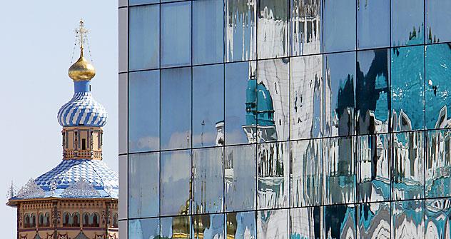 In Moskau leben Religionen friedlich nebeneinander. Foto: AFP