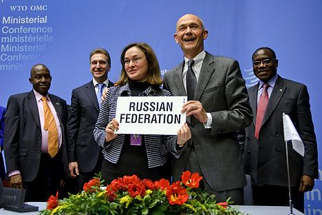The WTO accepted Russia to its company. Source: AFP / EastNews