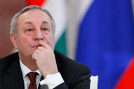 El fallecido presidente de Abjazia Serguéi Bagapsh. Foto de AP