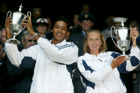 Bhupathi, who has won a total of 7 mixed-doubles grand slams, had a successful pairing with another Russian, Elena Likhovtseva. Source: AP