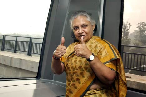 Sheila Dikshit and Sergei Cheremin meeting in Delhi strengthen friendship of two cities. Source: AP