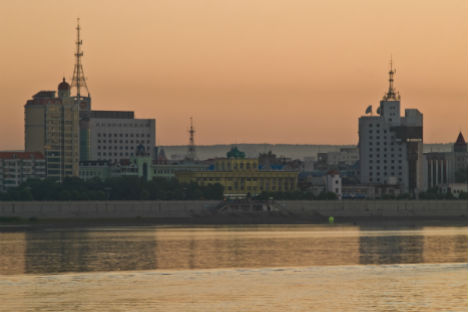 Blagoveshchensk, view to the Chinese city Heihe across the river. Source: Lori/Legion-Media