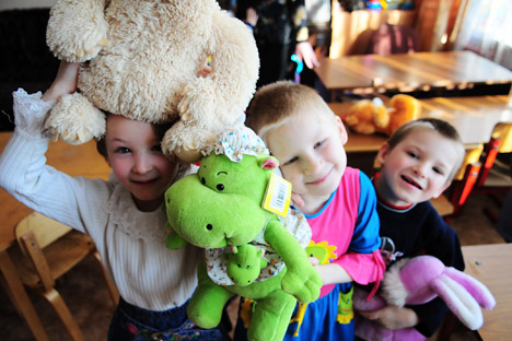 It remains to be seen how effective a new system for matching potential parents with children will be. Pictured: The children from the Shakhovsky Social Orphanage in the Moscow Region. Source: ITAR-TASS