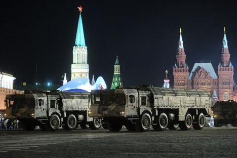 SS-26 Stone tactical ballistic missile. Photo by Maxim Shemetov/ITAR-TASS