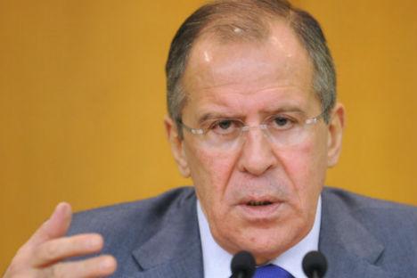 Russian Foreign Minister Sergei Lavrov. Source: RIA Novosti