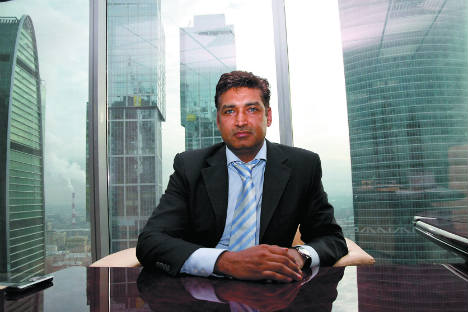Russia-educated Indian entrepreneur Vikram Singh Punia at his office in Moscow. Source: Nicolay Korolev
