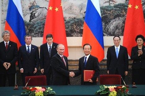 Zwei Premierminister sind besser als einer: Wladimir Putin und Wen Jiabao. Foto: kremlin.ru