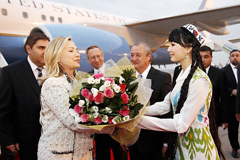 In October Hillary Clinton went on tour to Central Asia. This visit is one of steps towards Shanghai Cooperation Organisation. Source: Reuters.