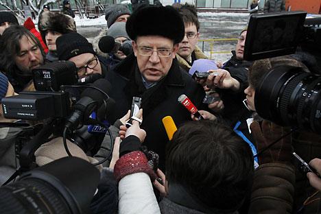 Alexej Kudrin war bei den Protesten am Samstag auch dabei. Foto: Reuters
