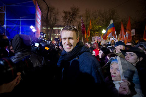 Der berühmte Blogger Alexej Nawalny ist einer der Festgenommenen. Foto: Drugoj