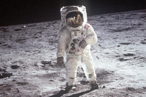 Russia had its own Moon exploration program in the late 1960s, but once Neil Armstrong and the crew of the US ship Apollo 11 got there, there was little political prestige to be gained by coming second. Source: NASA