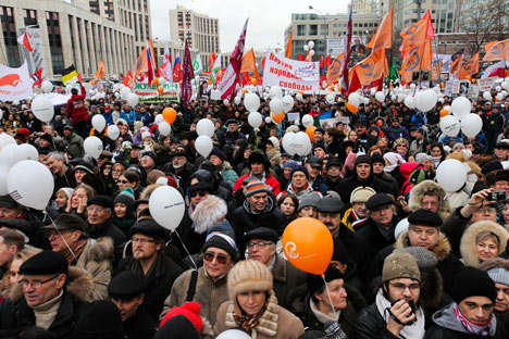 Saturday's rally is reported to bring together much more protesters than previous ones. Photo: Kirill Rudenko