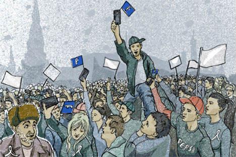 """Die """"Generation Pepsi"""" hat über die sozialen Netzwerke eine regelrechte Jagd auf Wahlfälscher gestartet und zeigt sich äußerst empört über die Manipulationen. Quelle: Natalja Mihajlenko"""