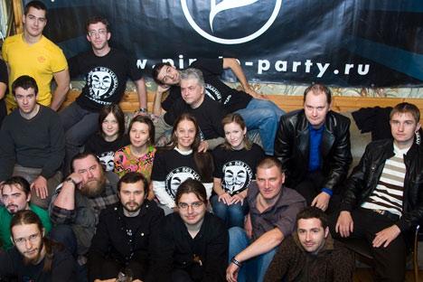 Die Mitglieder der Piratenpartei Russlands setzen sich für die Reform der Urheberrechte und Patente ein. Foto: ITAR-TASS