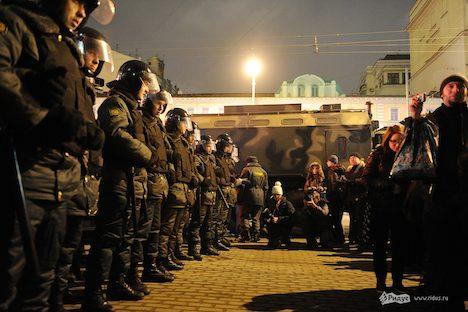 Demos in Moskau. Foto: Ridus.ru