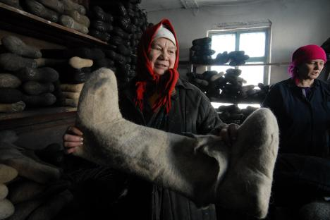 Historically, valenki - Russian felt boots - were a good tool to endure Russia's severe climate. Source: Andrey Shapran/FocusPictures