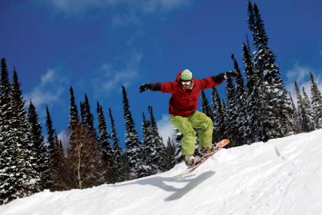 Yurin savouring thrills of snowboarding in Sochi. Source: LegionMedia