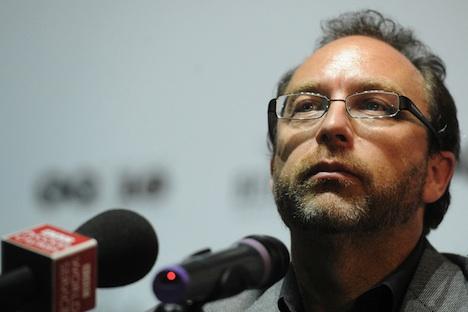 Jimmy Wales en Moscú. Foto de Itar-Tass
