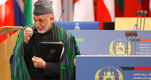 International conference on Afghanistan was chaired by Hamid Karzai, president of Afghanistan. Source: AP