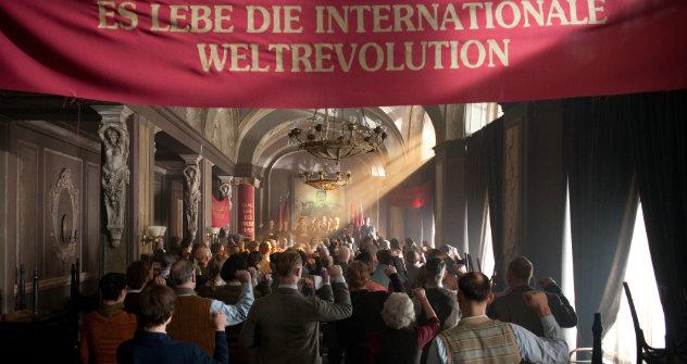 Die kommunistische Internationale ruft zur Versammlung. Foto: Pressebild