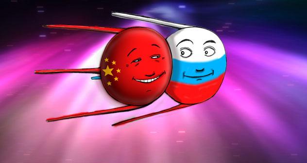 China und Russland könnten Partner in der Weltraumforschung werden. Bild: Niyaz Karim