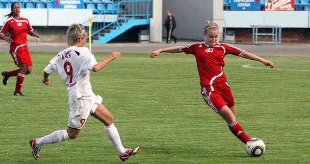 Alemania experimenta la fiebre del Mundial de fútbol femenino. Foto de Lender