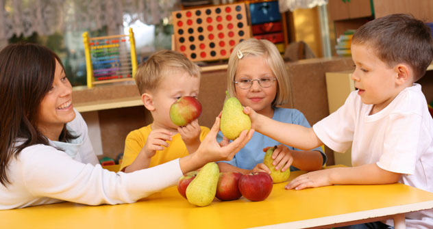 Some kids can't put up with the meat and their parents send them to vegetarian preschools. Source: PhotoXPress