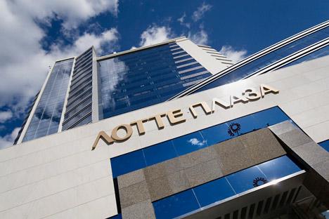 モスクワ中心にロッテ・グループで建てられたロッテ・プラザ=PhotoXpress撮影