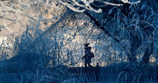 冬の日暮れ=ロイター通信/Vostock Photo撮影