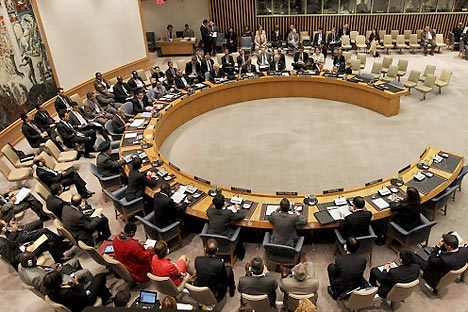 UNO-Sicherheitsrat: Russland will mit seinem Vetorecht eine UN-Resolution zu Syrien verhindern, weil sie zum ähnlichen Militäreinsatz wie in Libyen führen könnte. Foto: AFP_EastNews