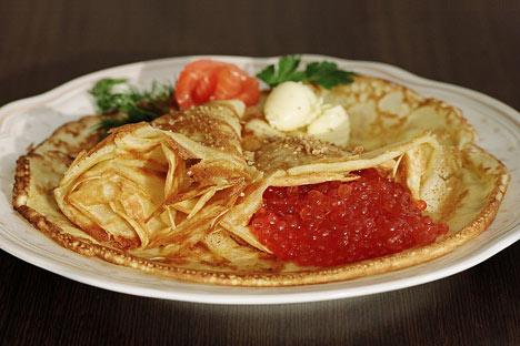 Mit oder ohne Kaviar - Bliny bleiben in Russland beliebt.