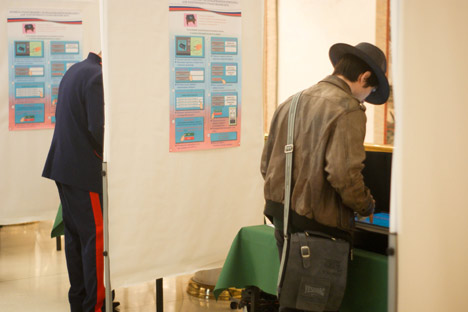 Wahllokal Im Generalkonsulat in Bonn. Foto: Dmitry Vachedin