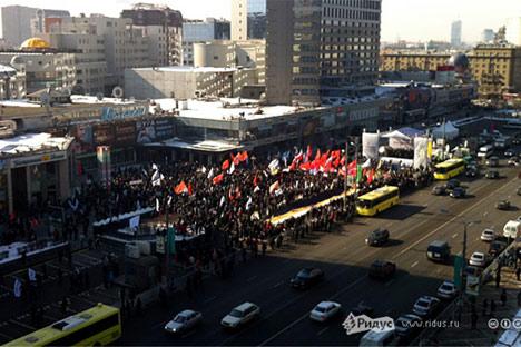 Protestdemo am 10. März. Foto: Ilja Warlamow/ Ridus