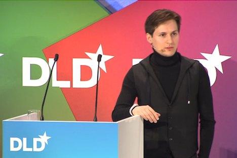 Pawel Durow bei der DLD-Konferenz in München. Foto: Pressevideo
