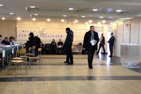 Wahllokal, wie es der Beobachter sieht. Foto: Makar Butkow