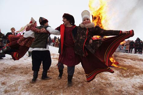 Masleniza: Tanzen bis die Füße brennen. Foto: RIA Novosti
