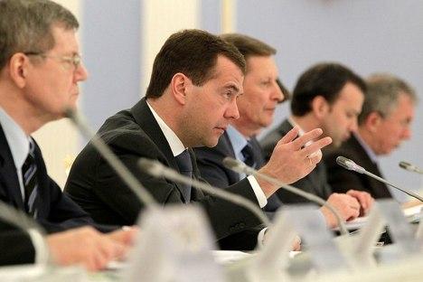 Medwedjew bei der Sitzung des Korruptionsbekämpfung-Rates. Foto: kremlin.ru