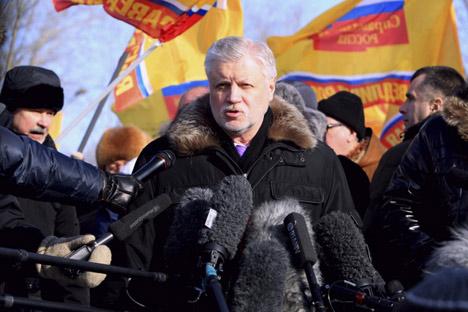 Sergej Mironow droht auch in seiner Partei die Abwahl nach seiner Pleite bei der Präsidentenwahl. Foto: www.spravedlivo.ru
